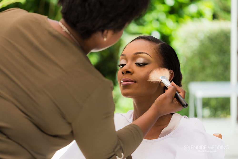 Photographe mariage Seine et marne marie patience maquillage