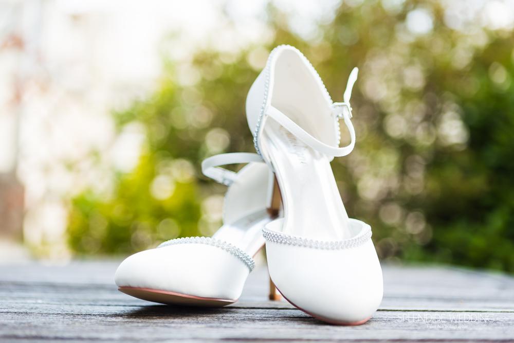 Photographe mariage Yvelines chaussure de la mariée