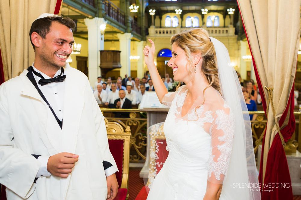 Photographe mariage Hauts de seine synagogue des tournelles