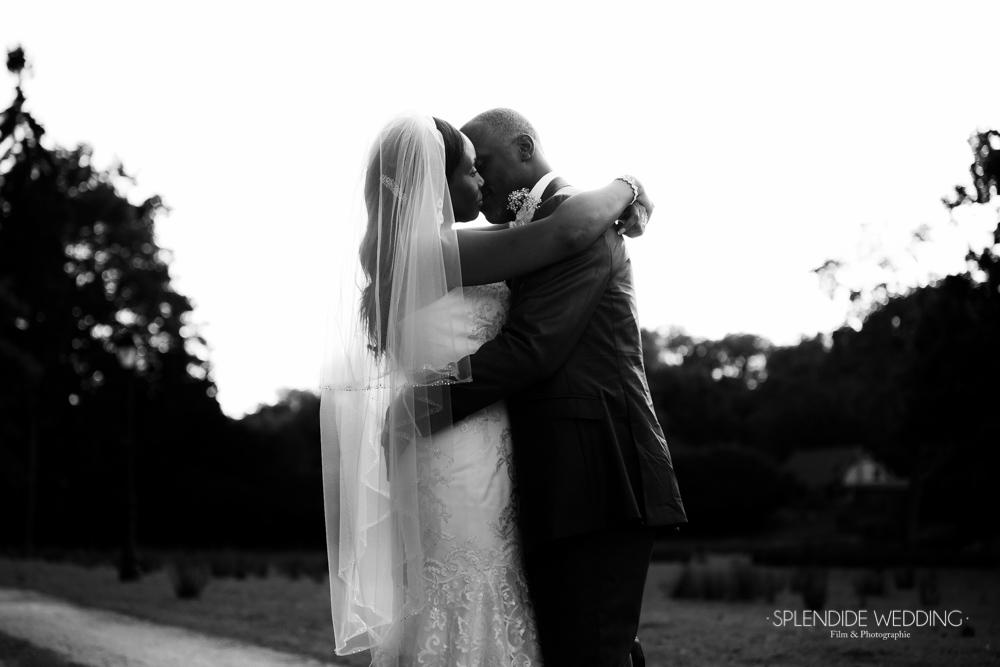 photographe mariage seine et marne photo de couple noir et blanc