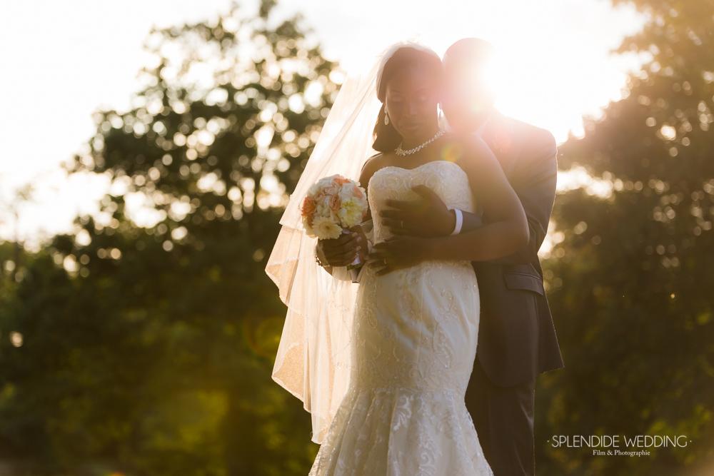 photographe mariage seine et marne photo de couple sous le soleil
