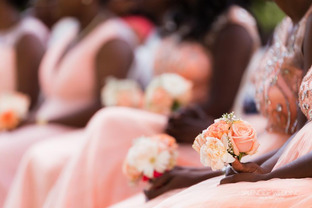 Le bouquet des demoiselles d'honneur