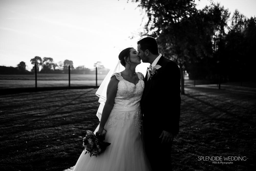 Photographe mariage seine et marne un baisé amoureux