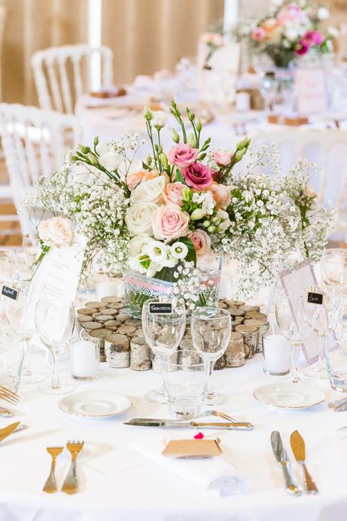 Photographe mariage seine et marne Décoration de la table des mariés