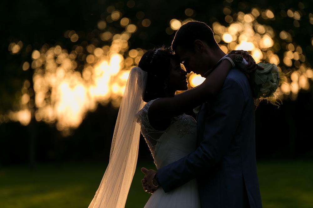 Sunset avec les mariés
