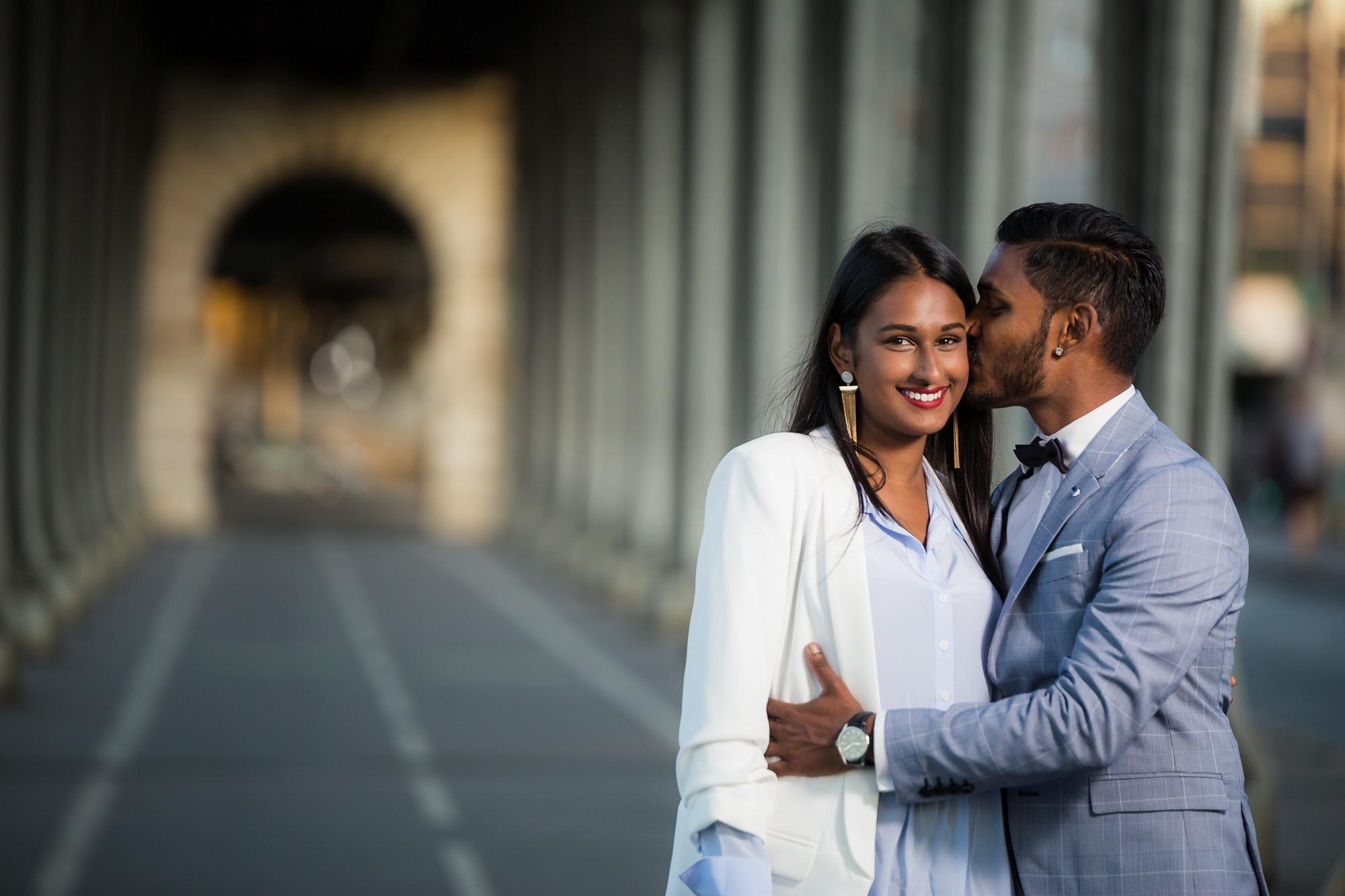 Séance engagement PARIS couple asiatique