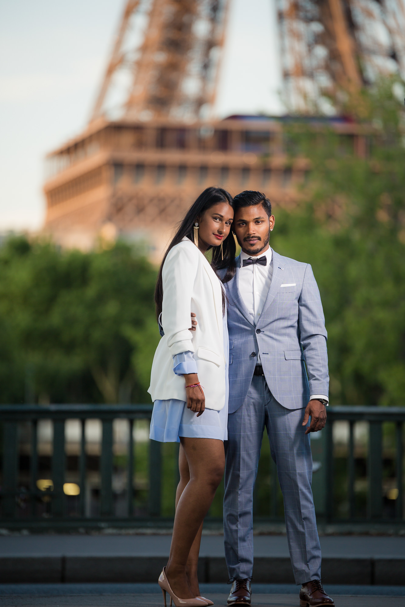 Séance engagement PARIS couple Sri-Lankais tour eiffel