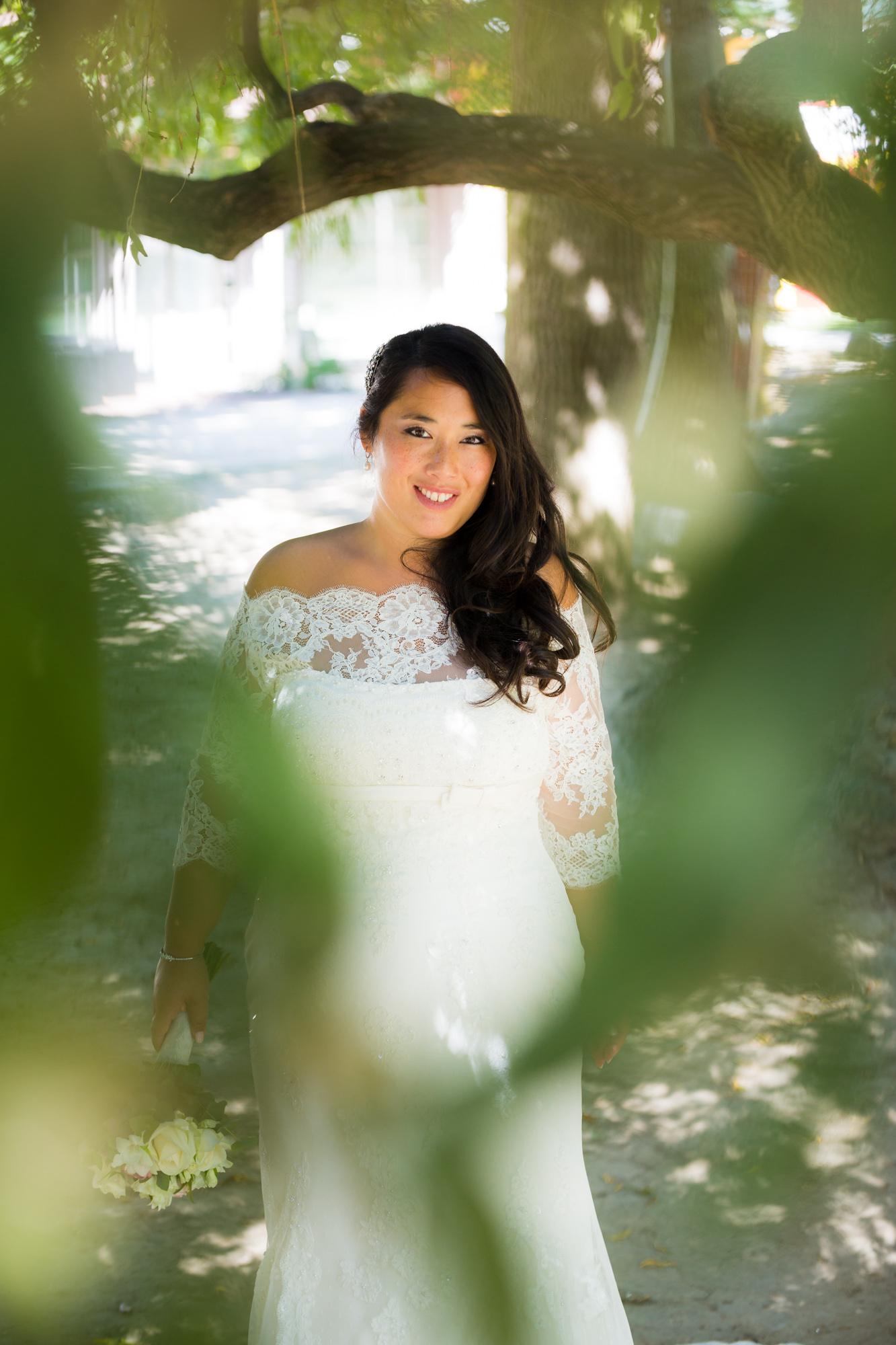 Mariage au Chalet de la Porte Jaune Bride portrait