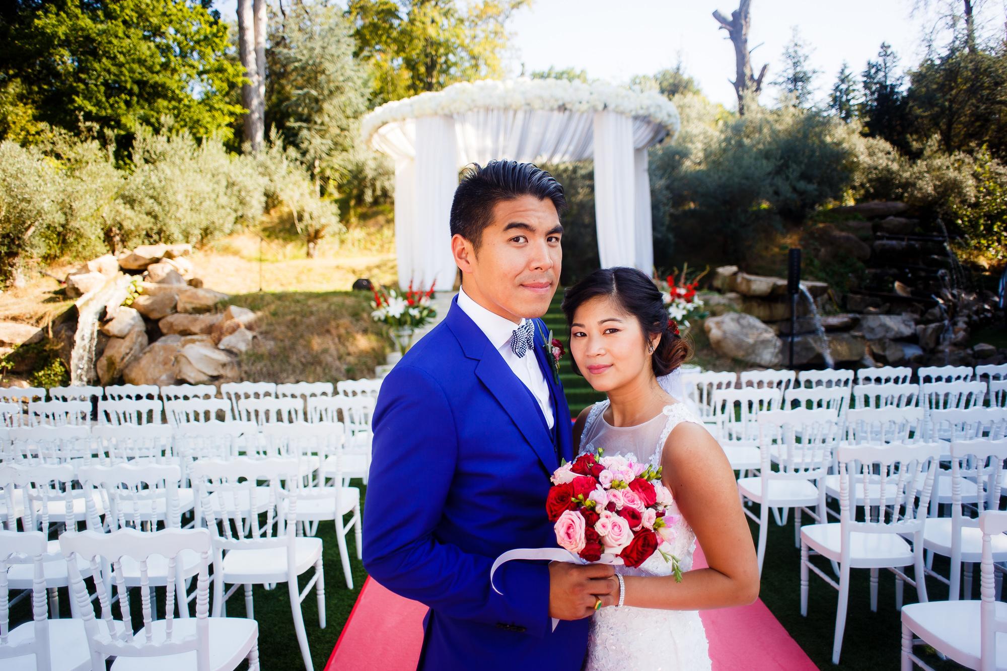 Mariage au Manoir des Cygnes couple chinois