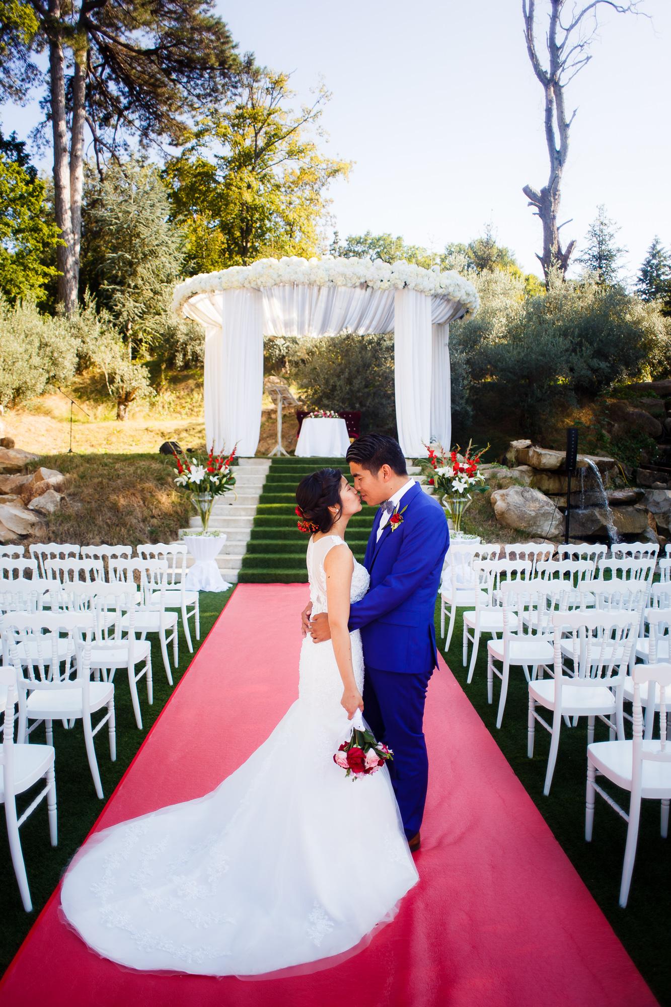 Mariage au Manoir des Cygnes couple asiatique