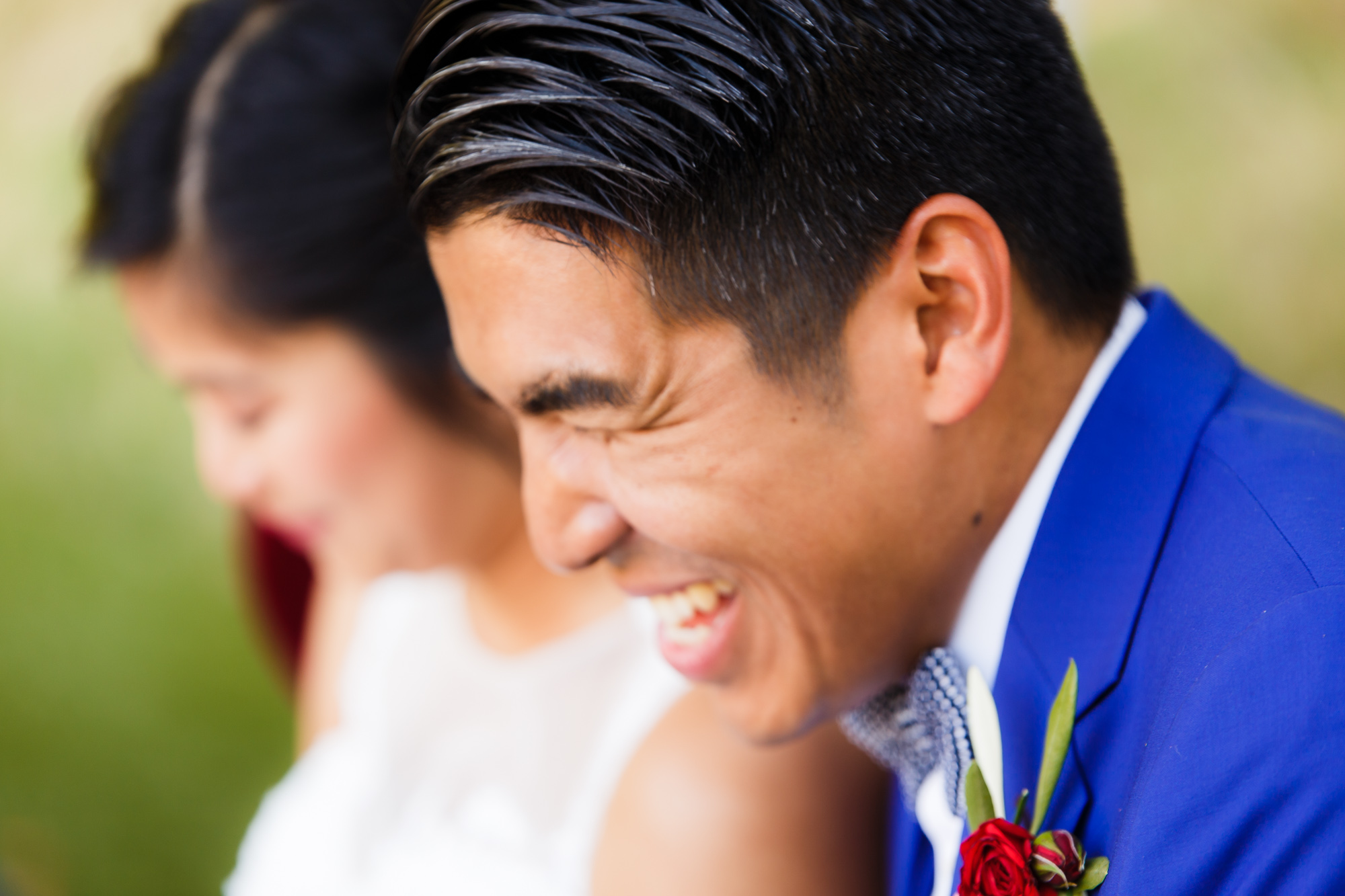 Mariage au Manoir des Cygnes sourire du marié