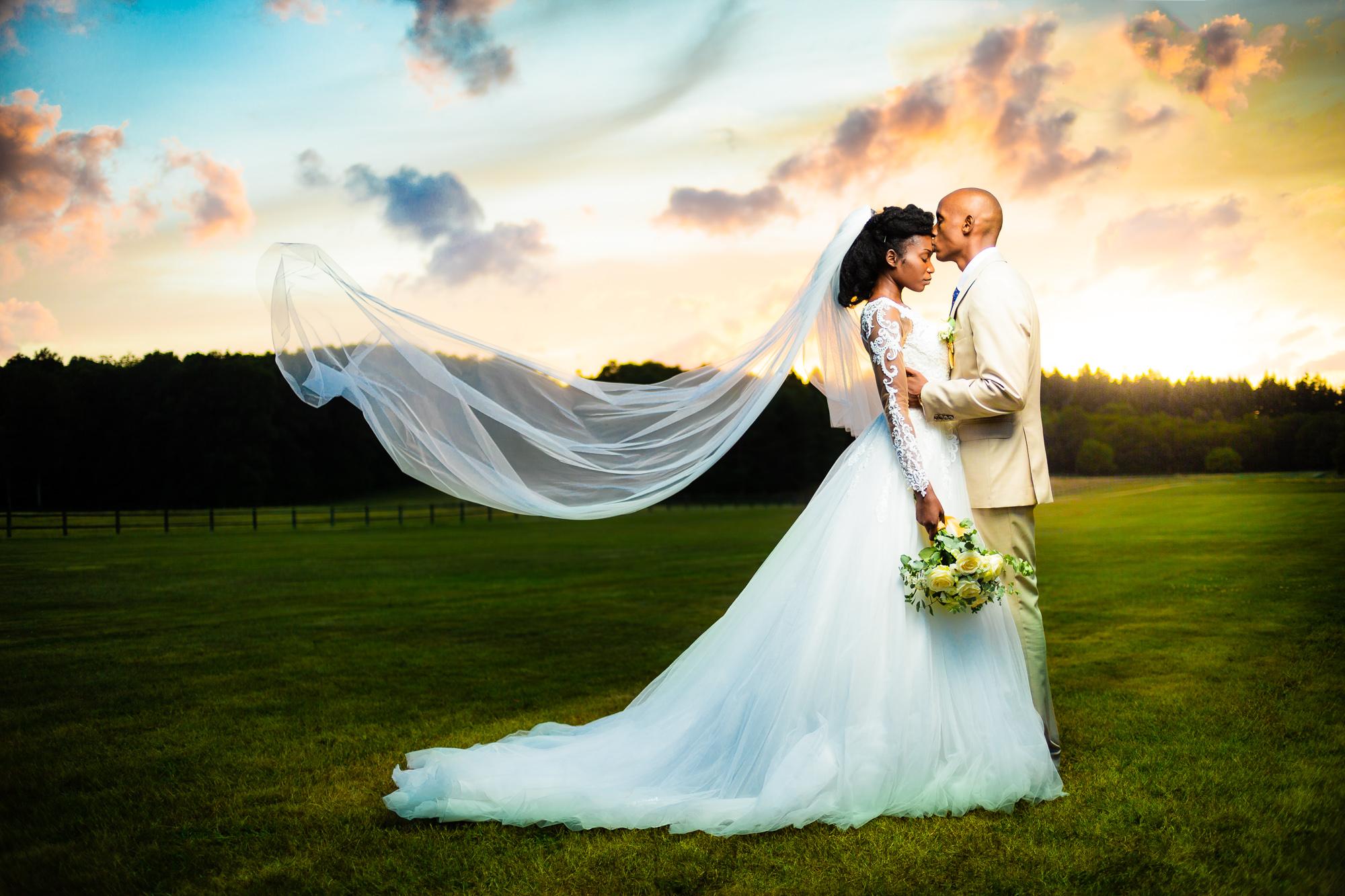 couple noir marié